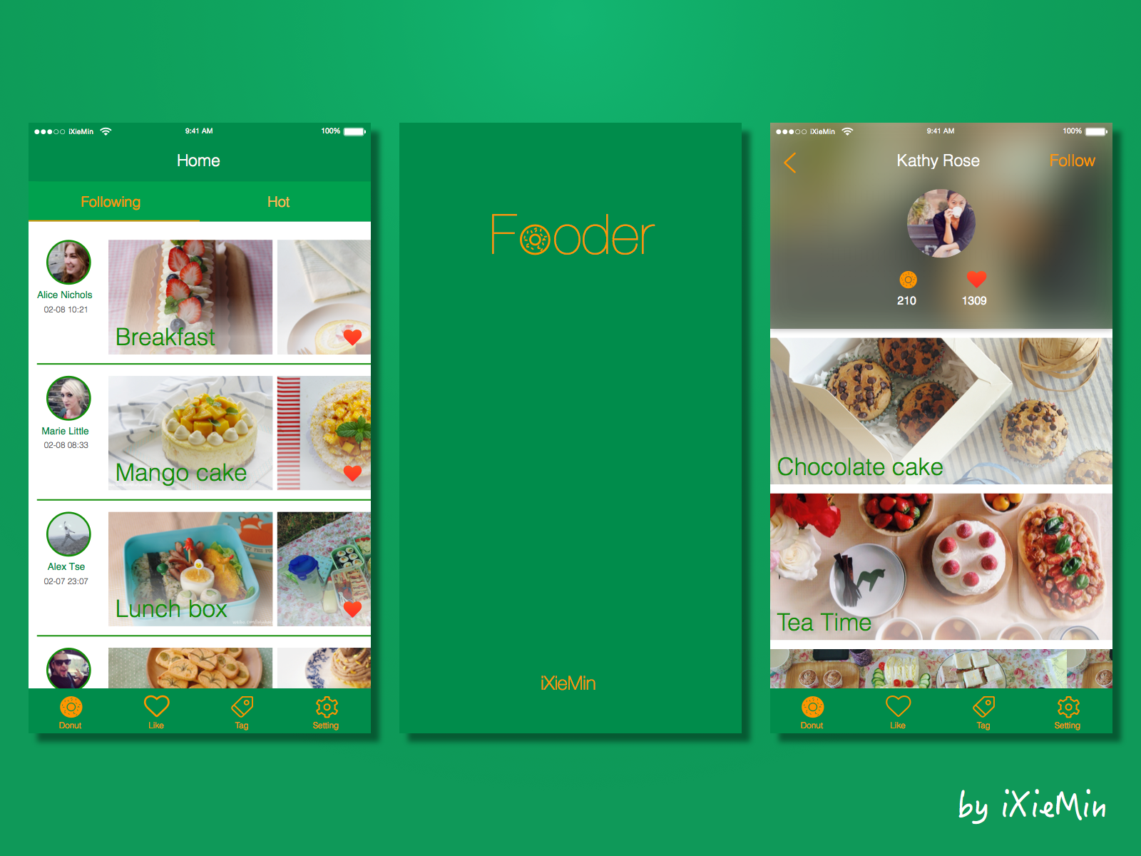 Share Food App Design