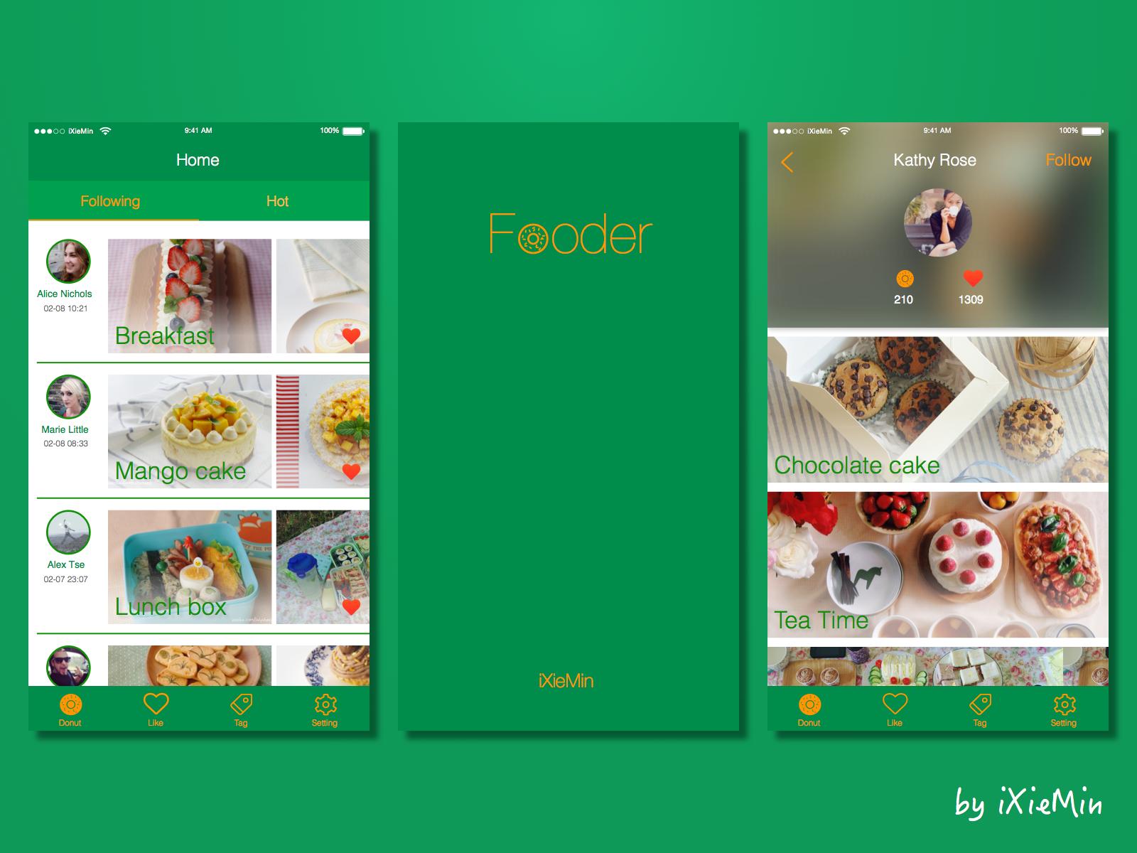 Share Food App Design
